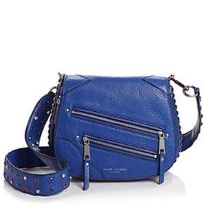 New Marc Jacobs Pyt Small Cobalt Blue Saddle Bag